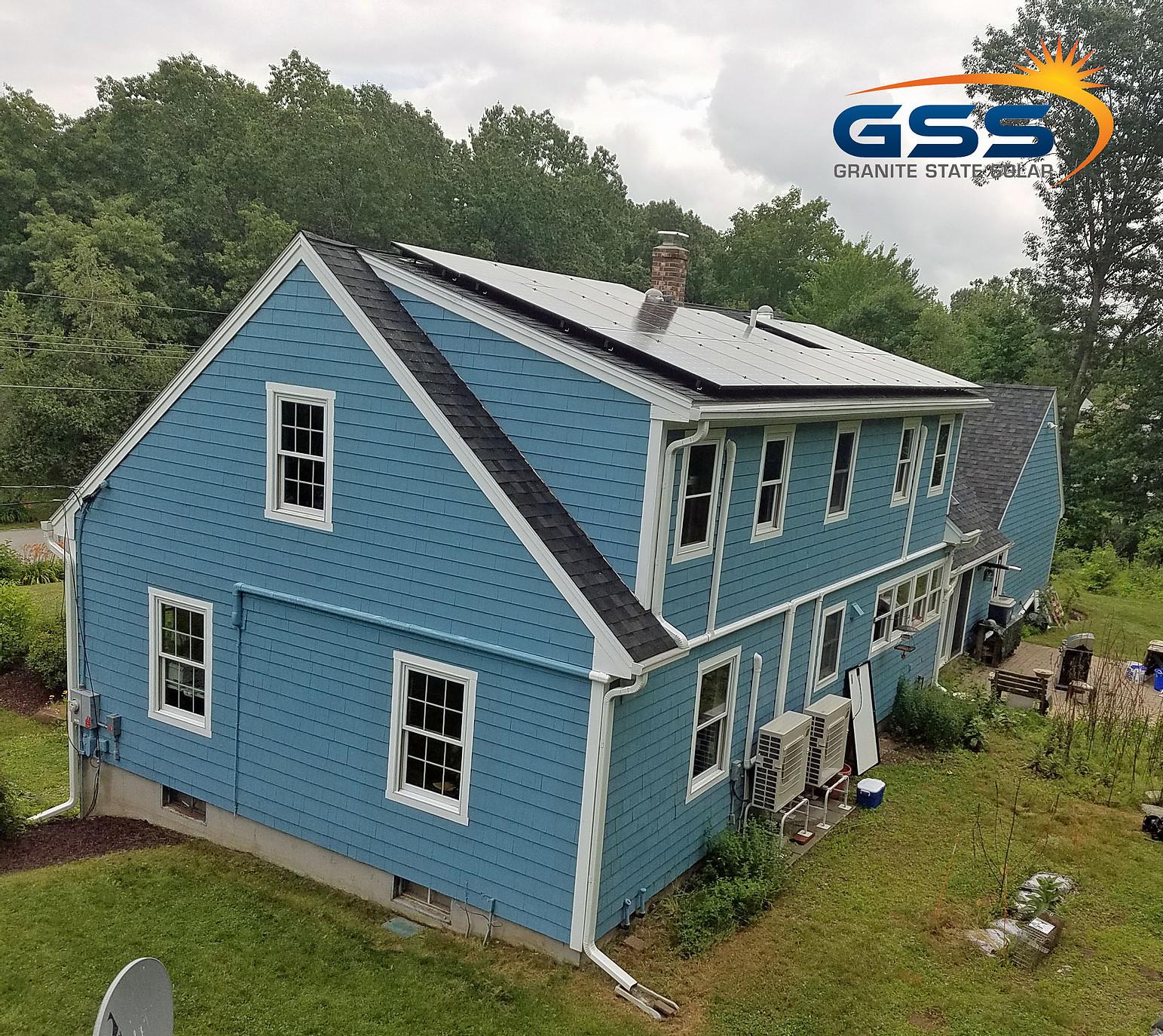 20 solar panel roof array