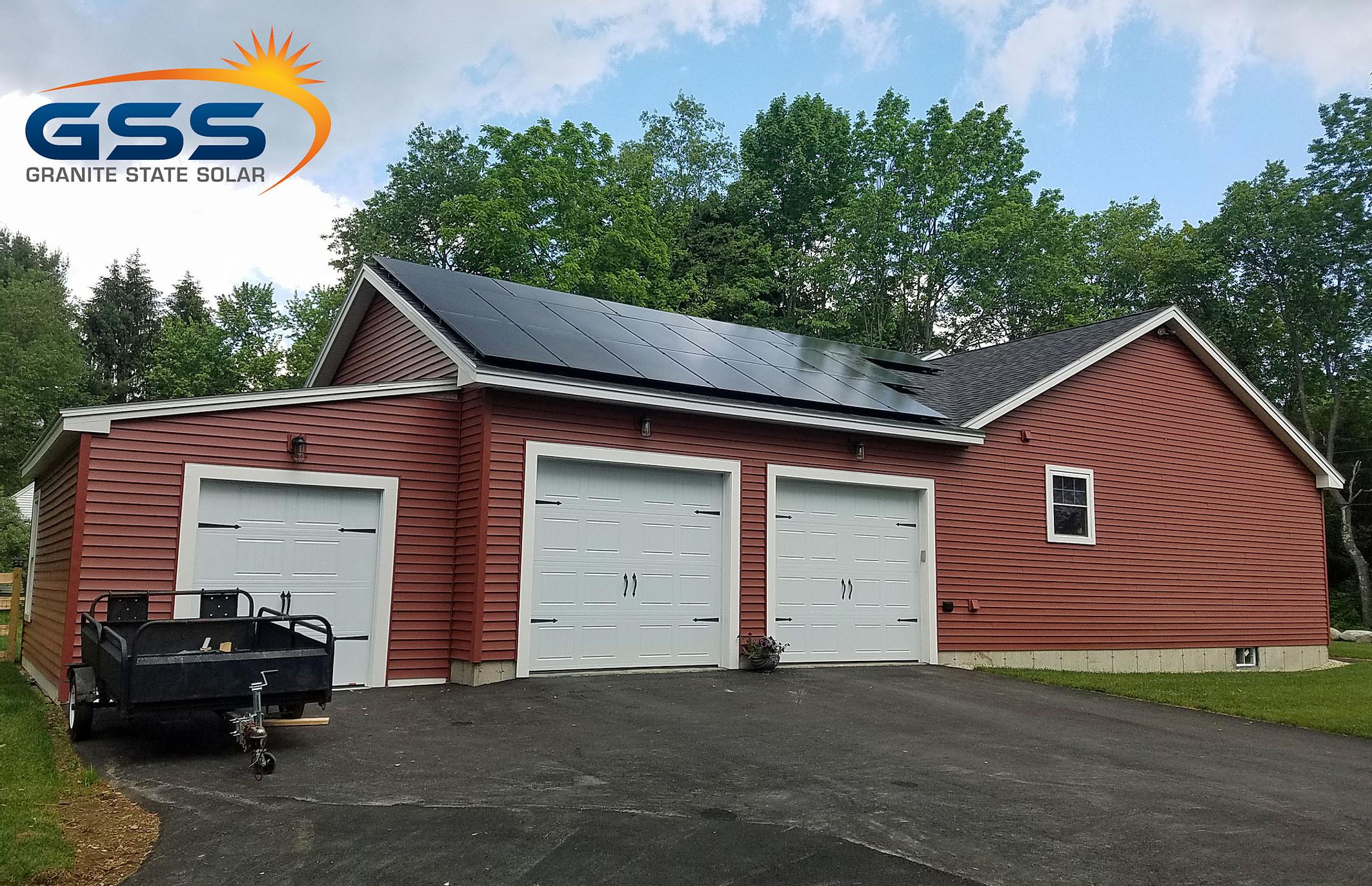 21 solar panel roof array