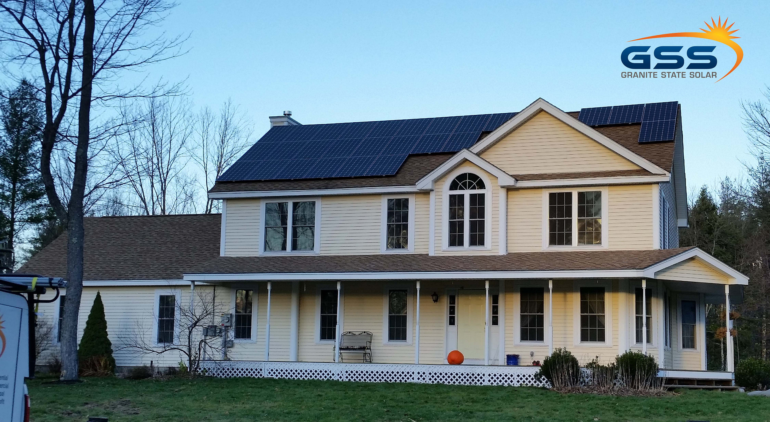 27 solar panels on a roof