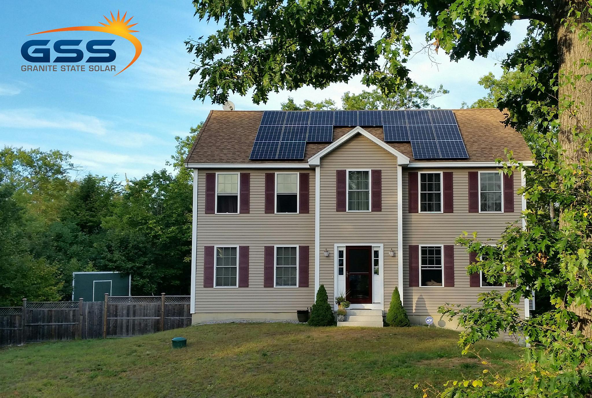 18 solar panel roof array