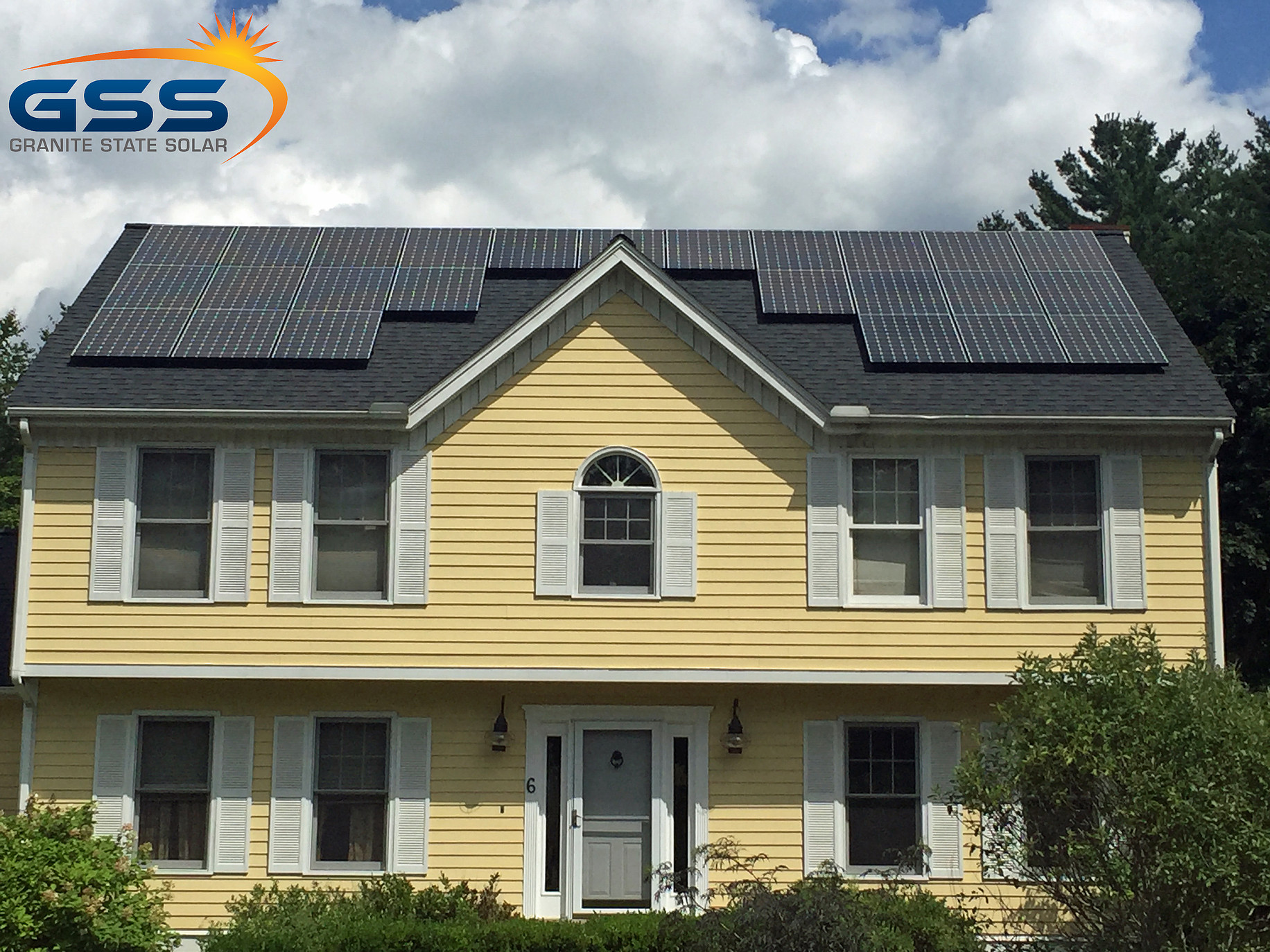 19 solar panel roof array
