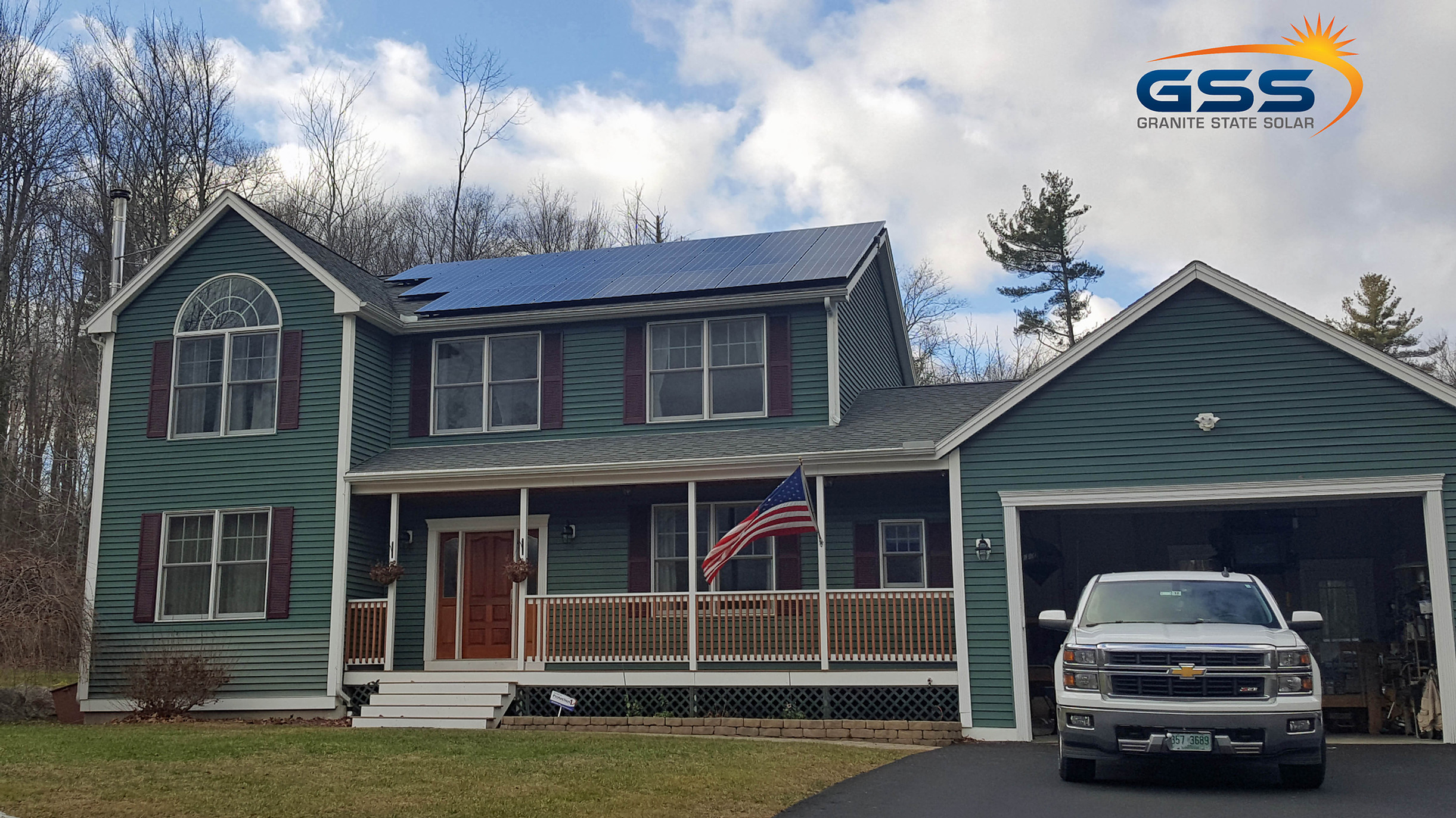 24 solar panel roof array
