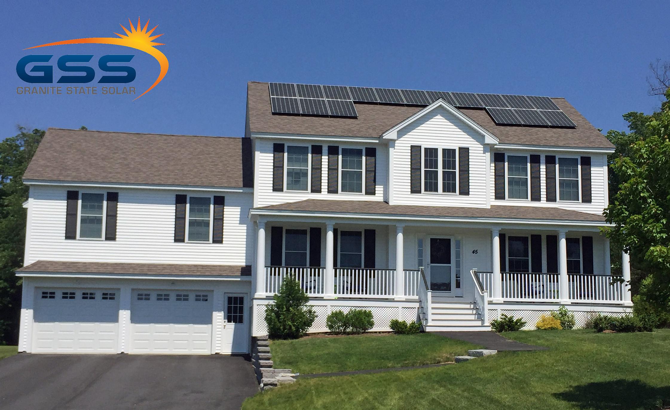 17 solar panel roof array